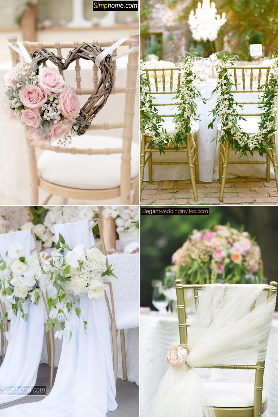 1.Awesome DIY Wedding Chairs via Simphome.com