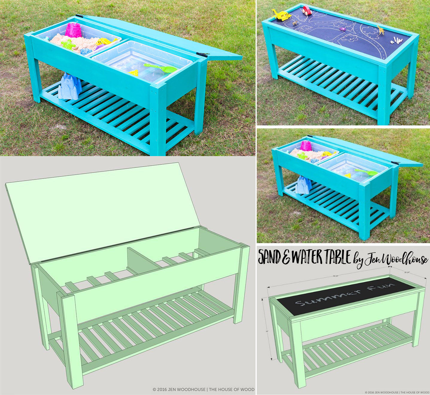 1.SIMPHOME.COM 10 DIY Outdoor Wood Projects Sand and Water Play Table