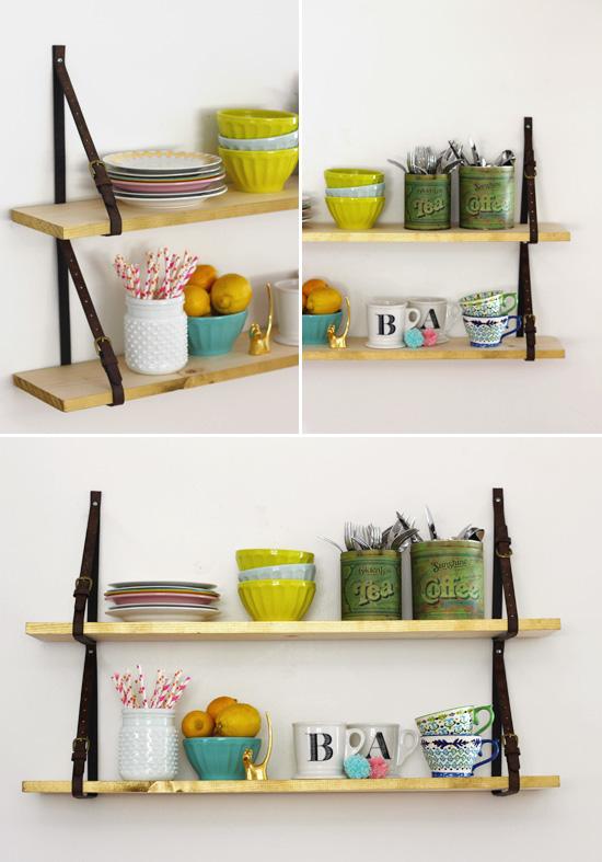 1.SIMPHOME.COM Shelves with Belt Straps