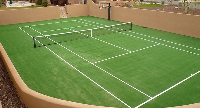 1.SIMPHOME.COM .Tennis Court with Synthetic Grass