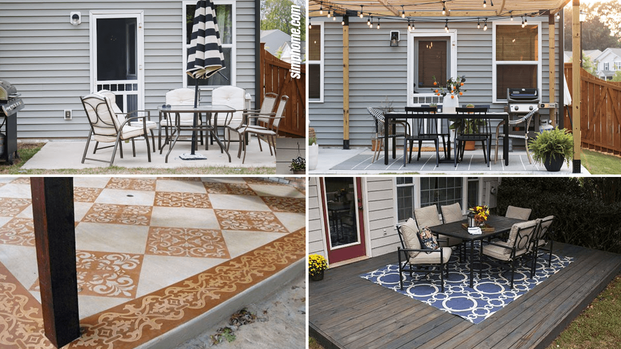 10 Ideas How to Makeover Concrete Patio for Small Backyard via Simphome.com