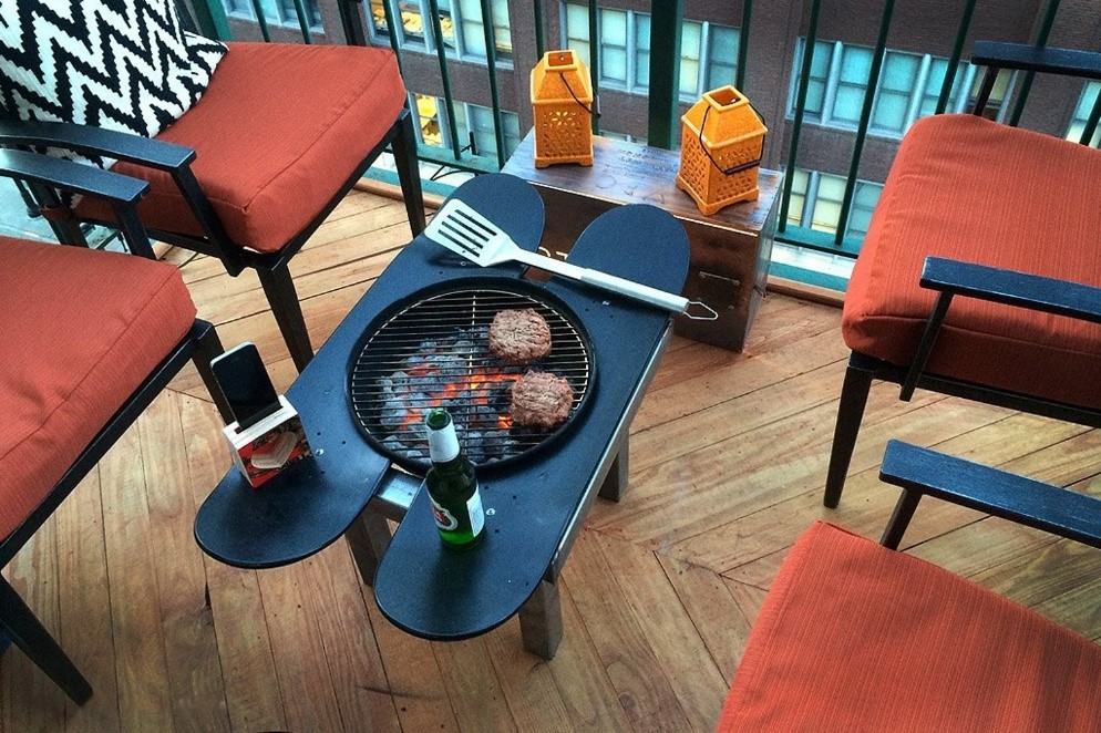 10. Patio Grill Table via SIMPHOME.COM