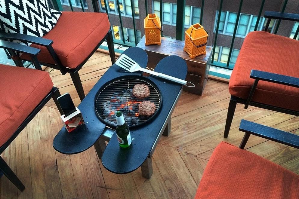 10. Patio Grill Table via SIMPHOME.COM