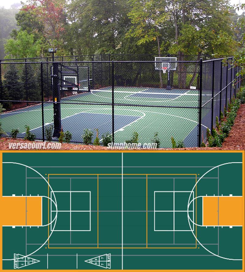 10. SIMPHOME.COM Mixed Use Sport Court