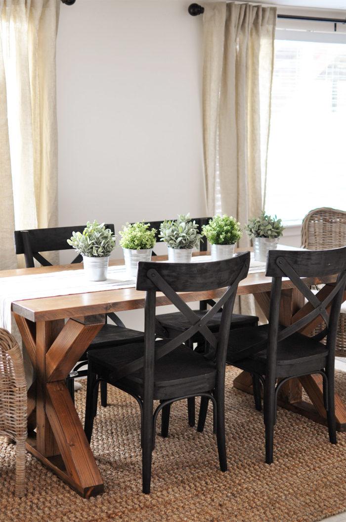 10. SIMPHOME.COM X Brace Farmhouse Dining Table