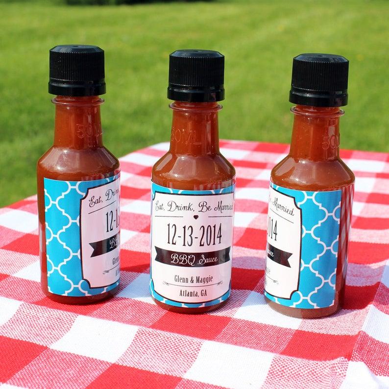 10.SIMPHOME.COM 10 Backyard BBQ Wedding Reception Custom BBQ Condiment Favors