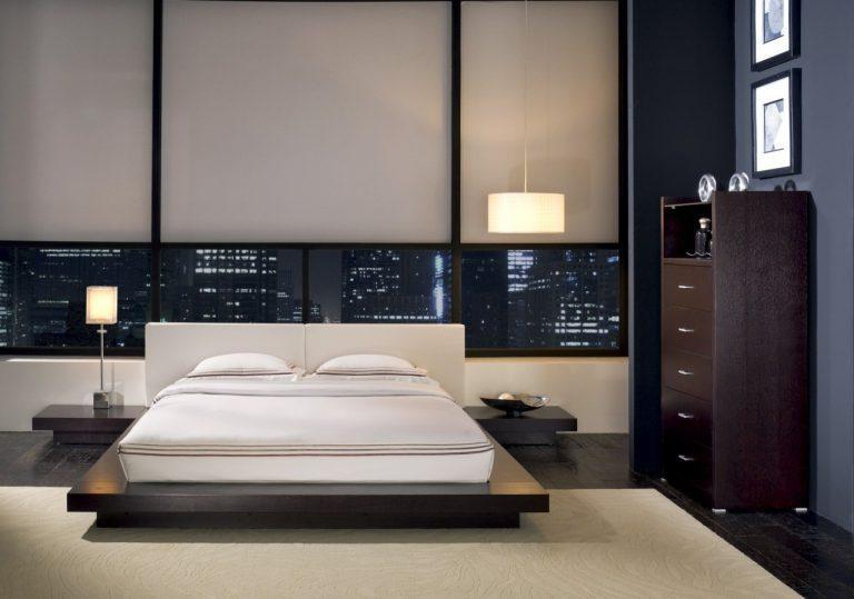 10.SIMPHOME.COM Modern Minimalist Bedroom with City Light View