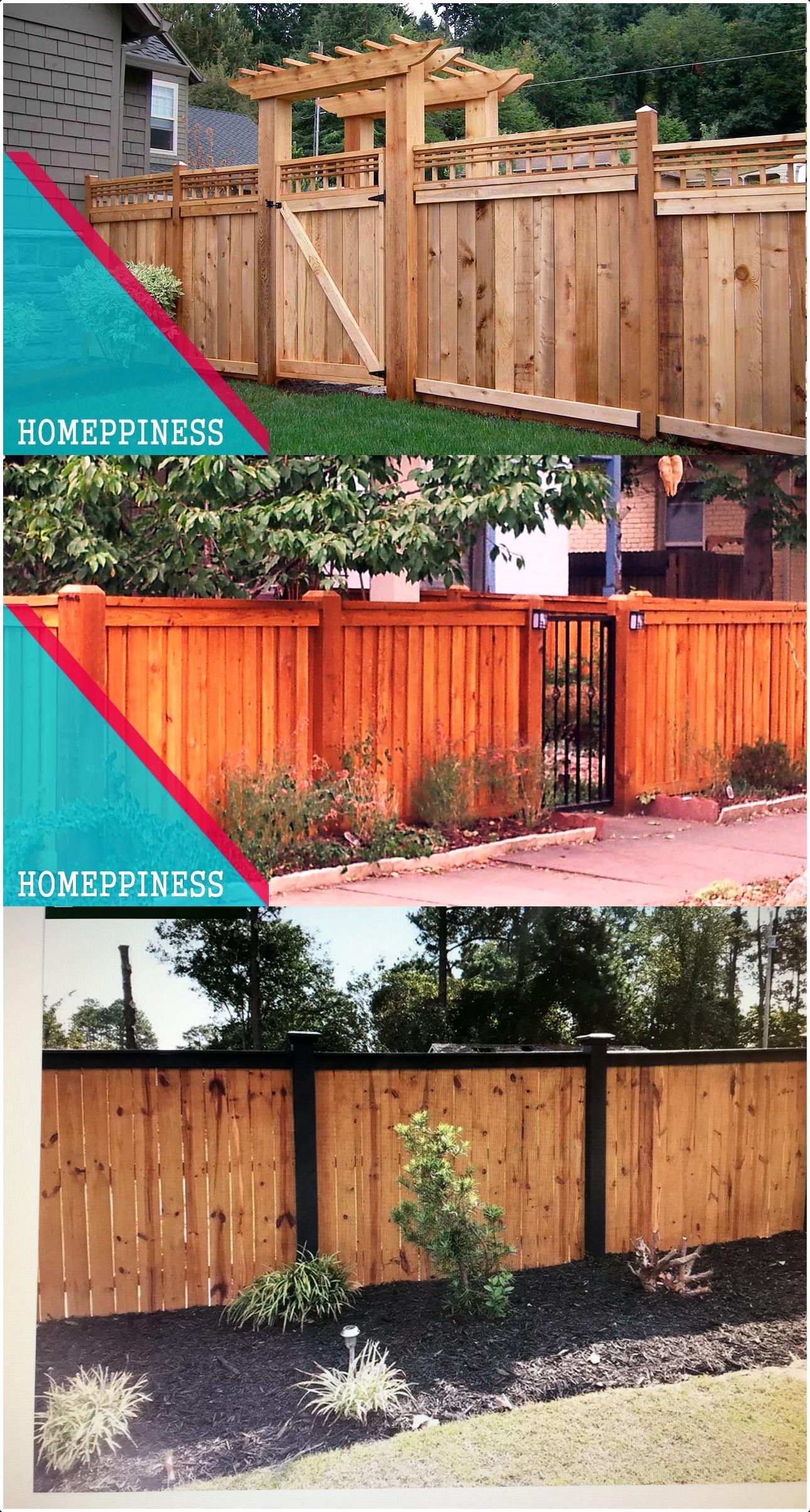 11.SIMPHOME.COM Cheap Wooden Fence pin Stephanie Allison On Backyard