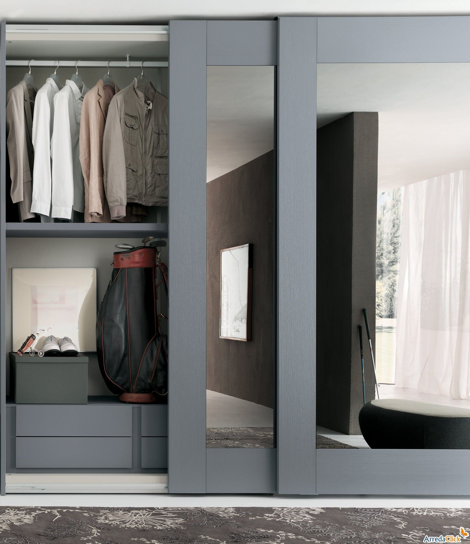 11.SIMPHOME.COm create a new look for your room with these closet door ideas