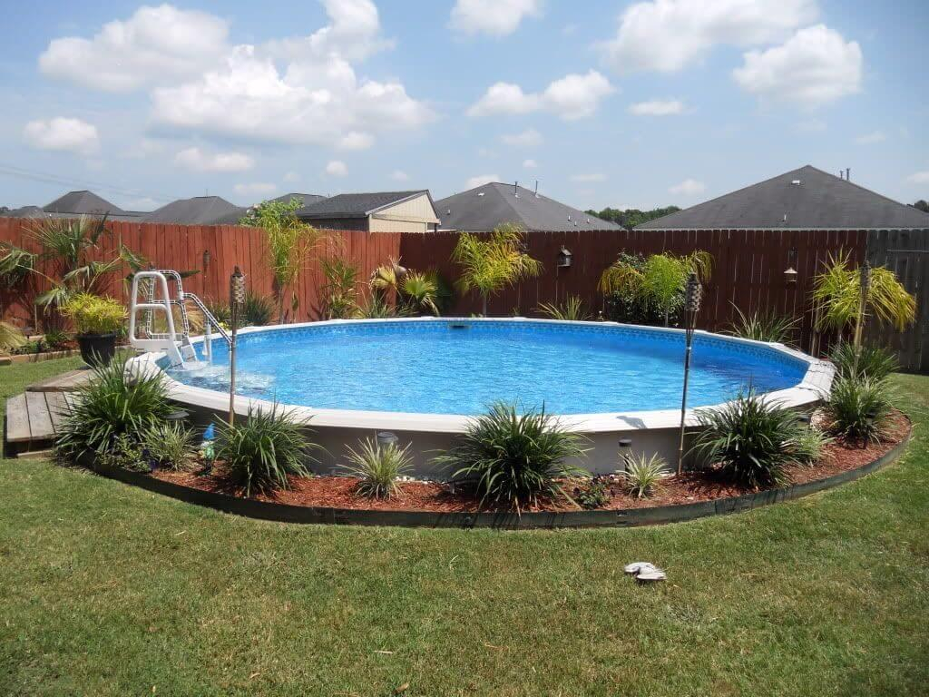 12.2.Creative ideas for landscaping around above ground pool ideas