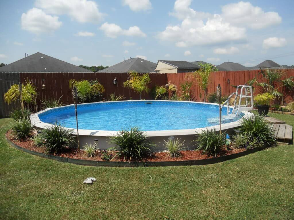 12.Creative ideas for landscaping around above ground pool ideas