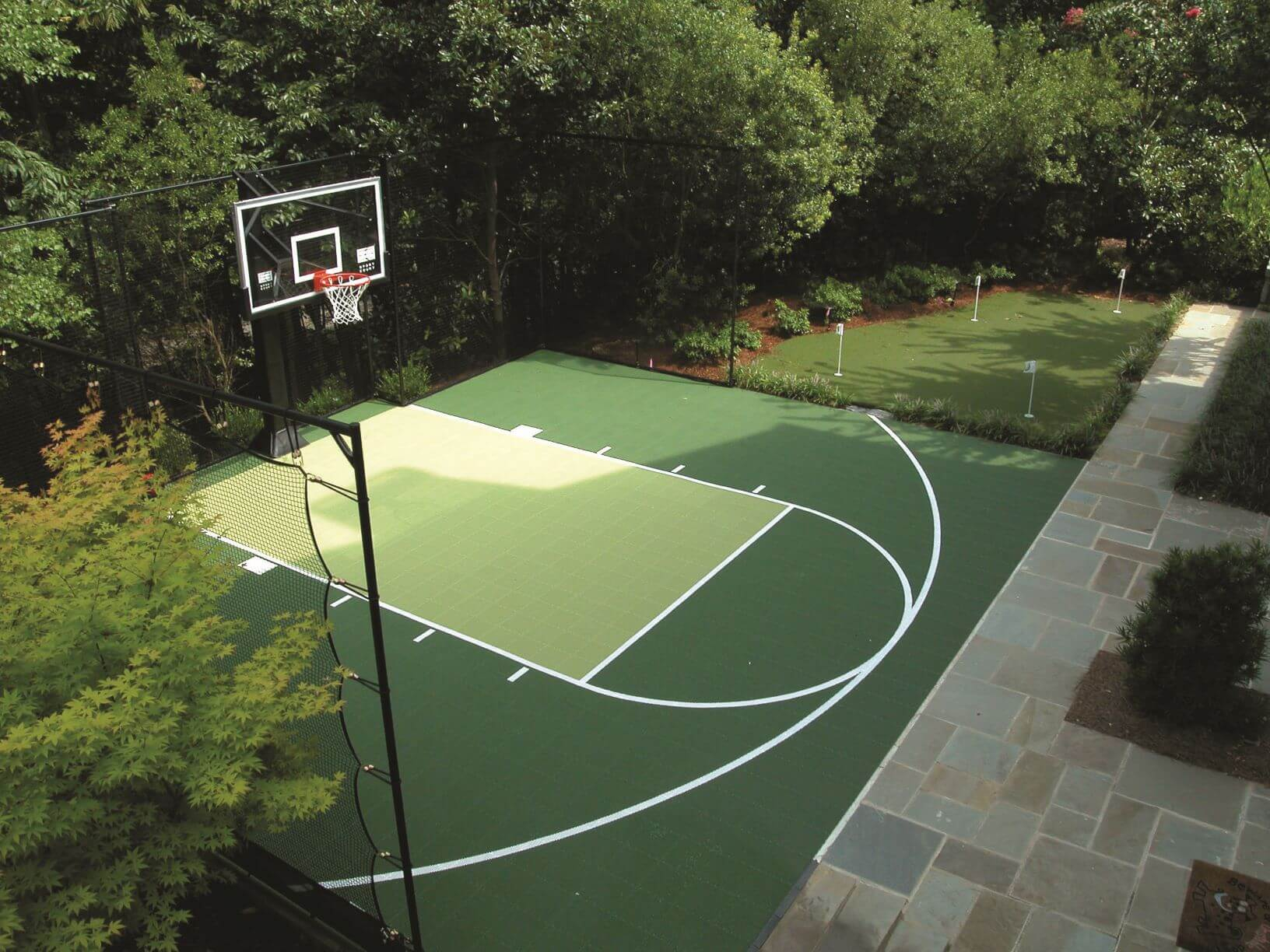 12.SIMPHOME.COM design ideas backyard basketball court allsport america inc in backyard sport court ideas