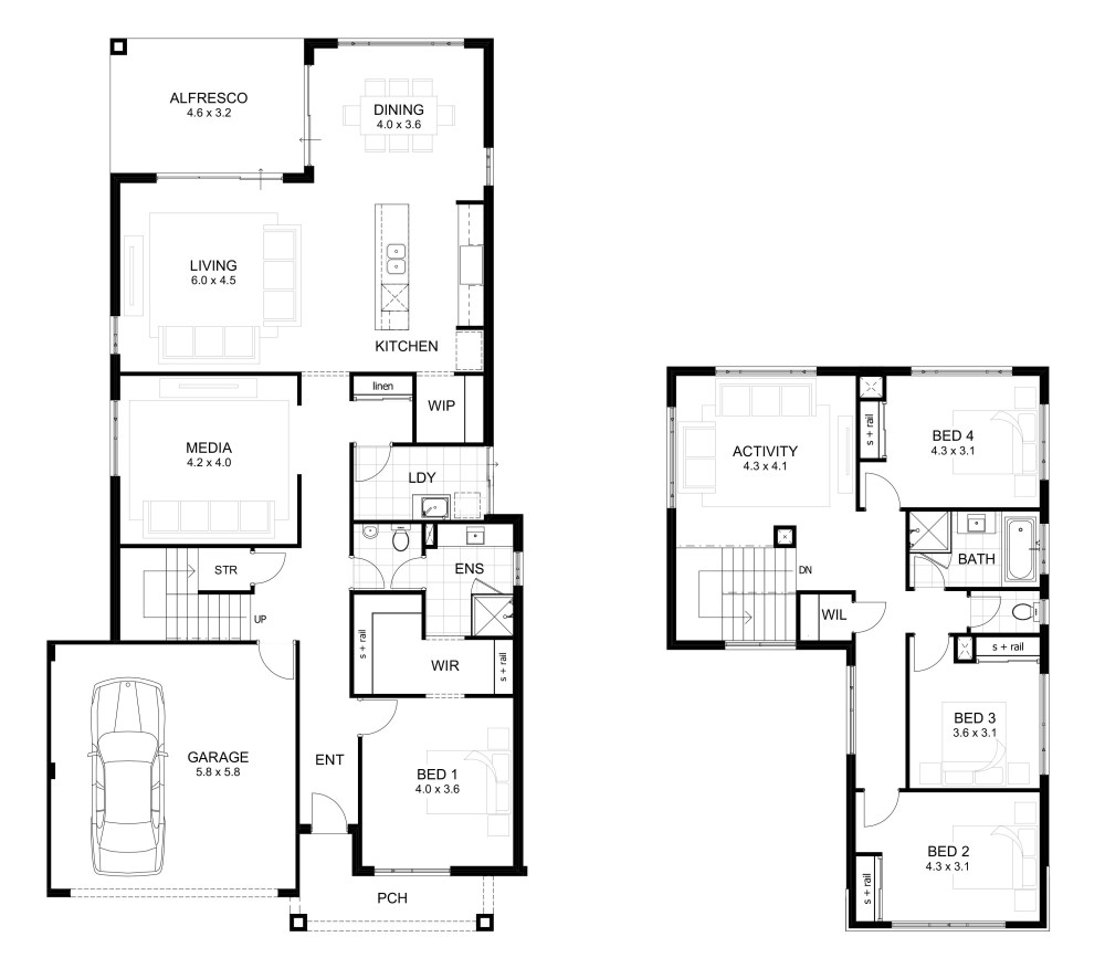 12.double storey with 4 bed via SIMPHOME.COM