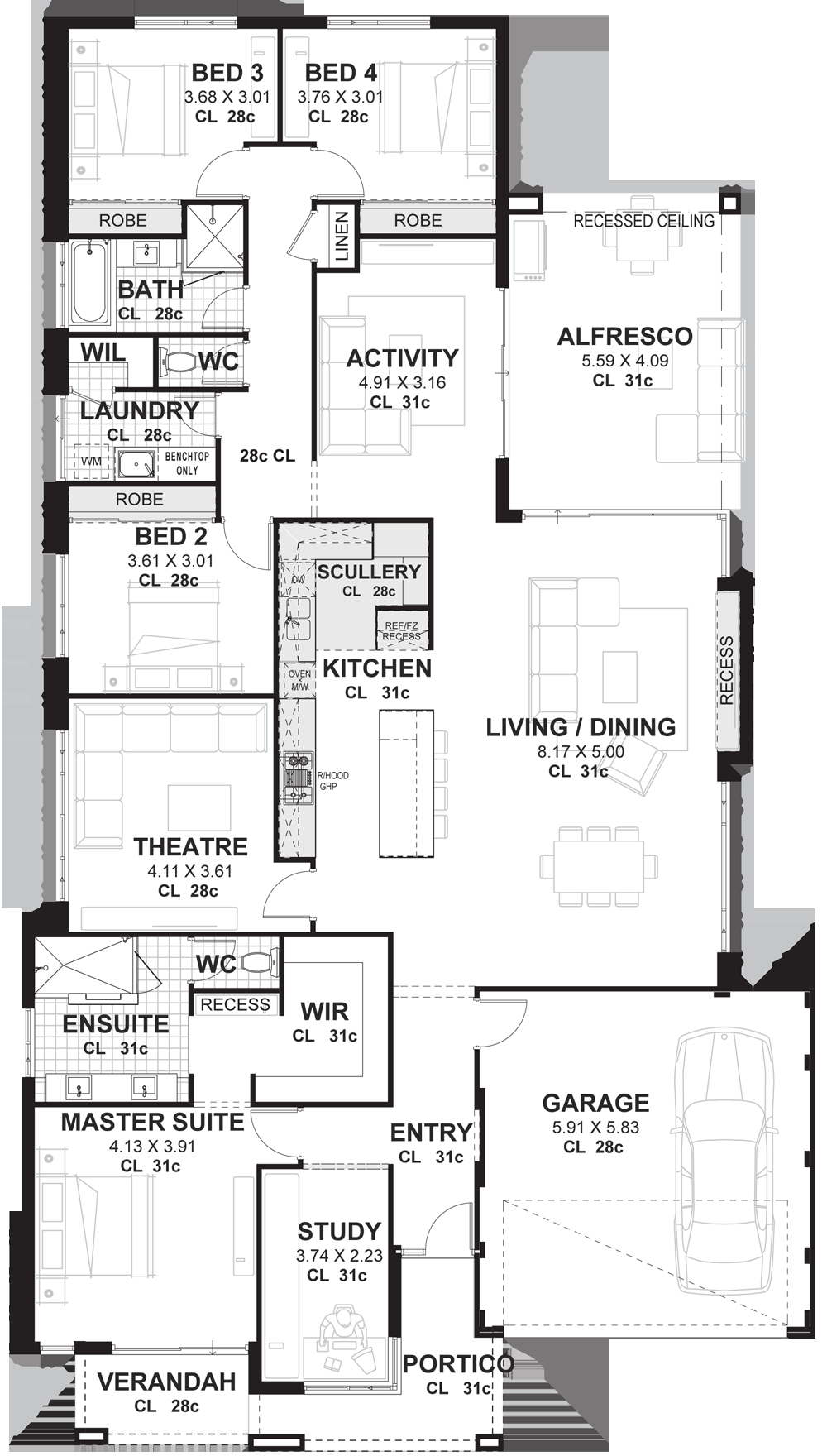 13.SIMPHOME.COM 4 bedroom house plans home designs perth vision one homes