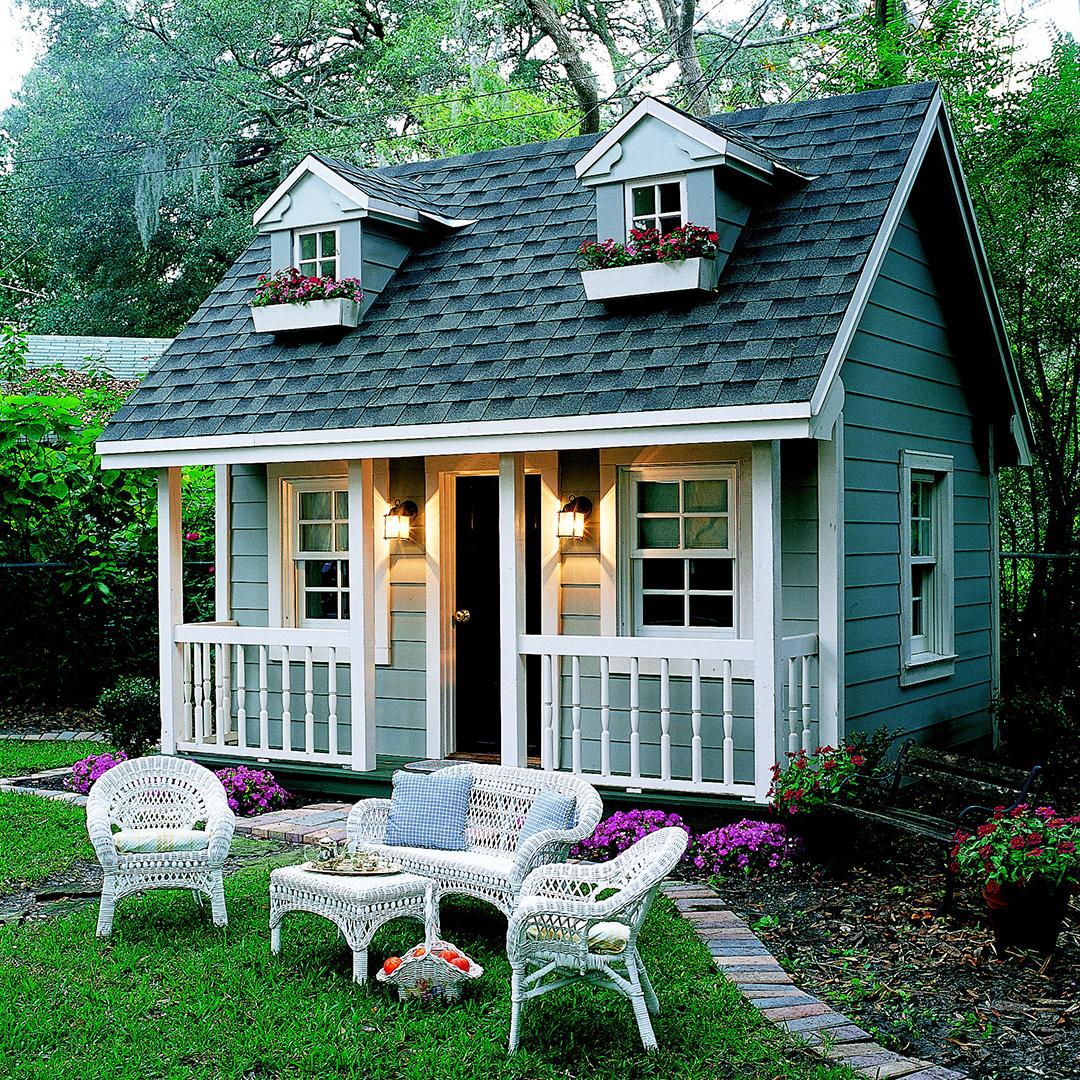 13.SIMPHOME.COM backyard playhouse better homes gardens