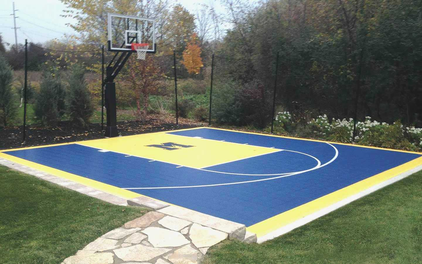 13.backyard basketball court ideas outdoor via SIMPHOME.COM