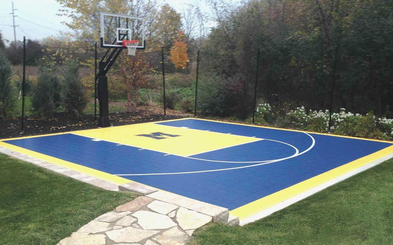 13.backyard basketball court ideas outdoor via SIMPHOME.COM