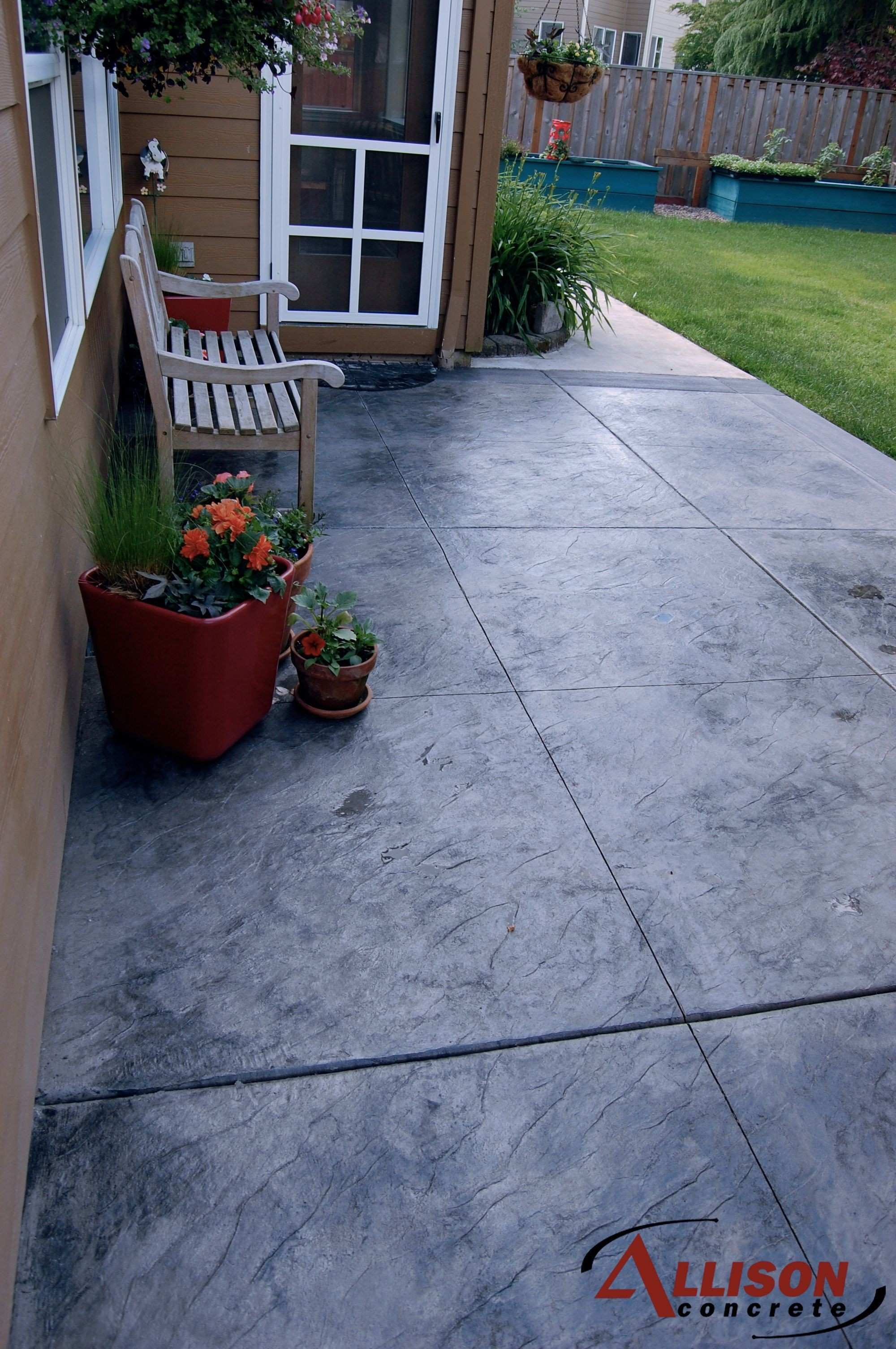 14.SIMPHOME.COM concrete patio ideas for small backyards lovely stamped decorating
