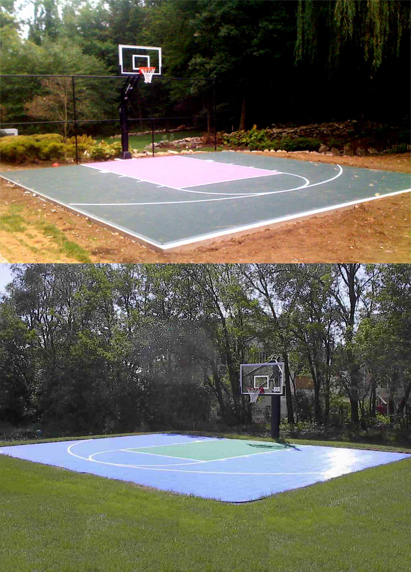 14.SIMPHOME.COm backyard basketball court layout tips and dimensions