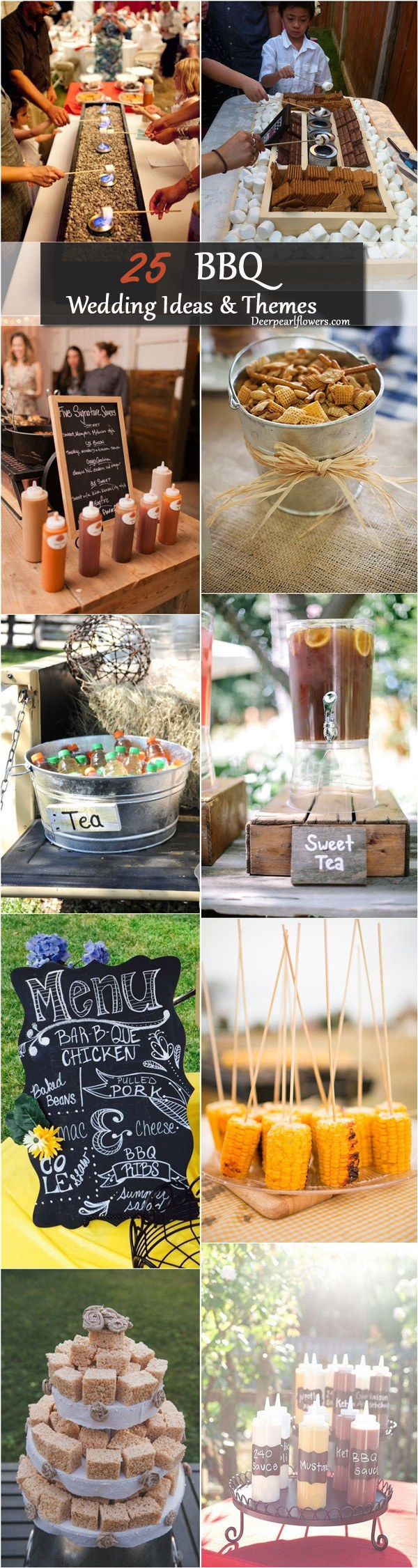 15.SIMPHOME.COM top 25 rustic barbecue bbq wedding ideas deer pearl flowers