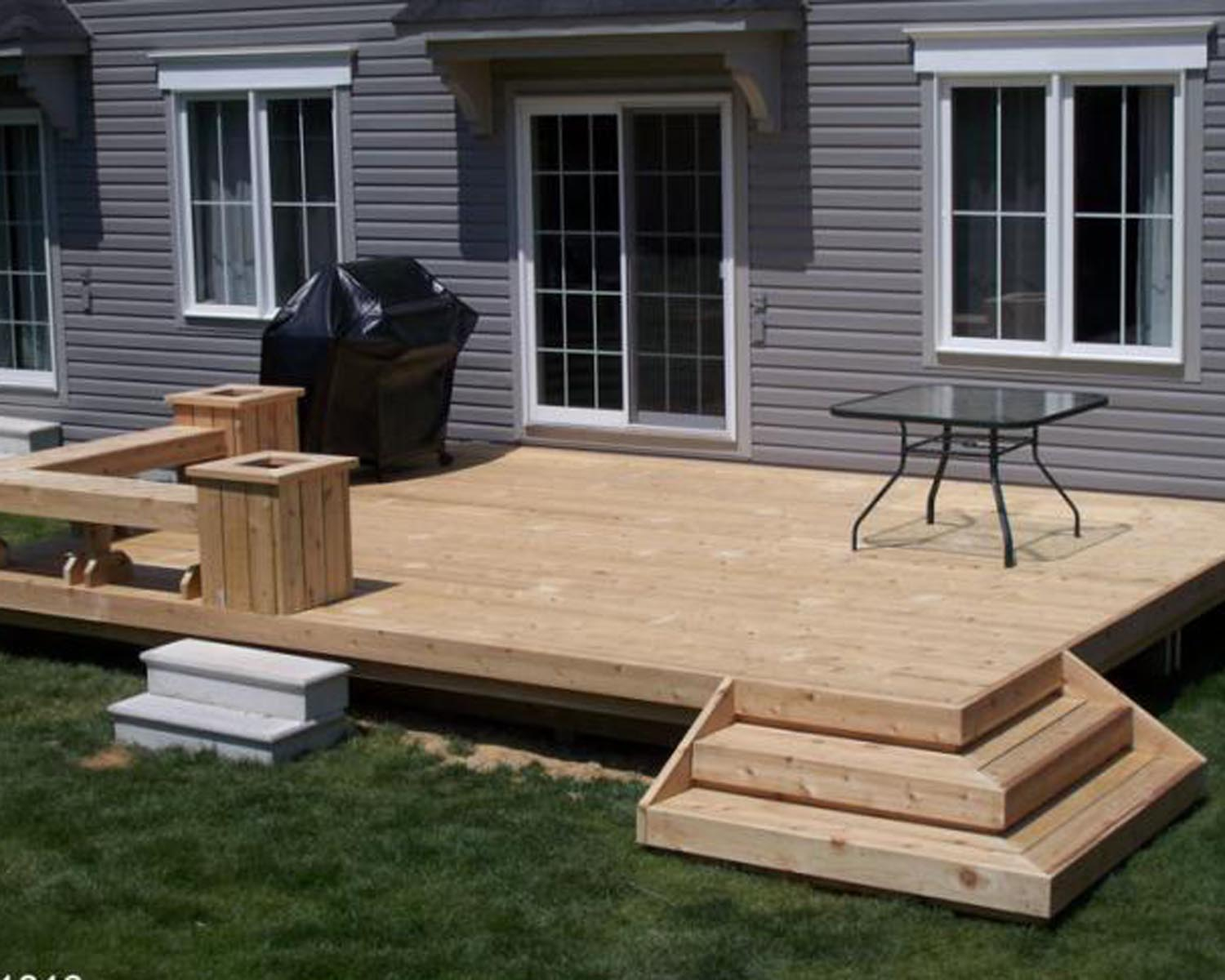 16.SIMPHOME.COM back deck design ideas with 10 cheap backyard deck ideas