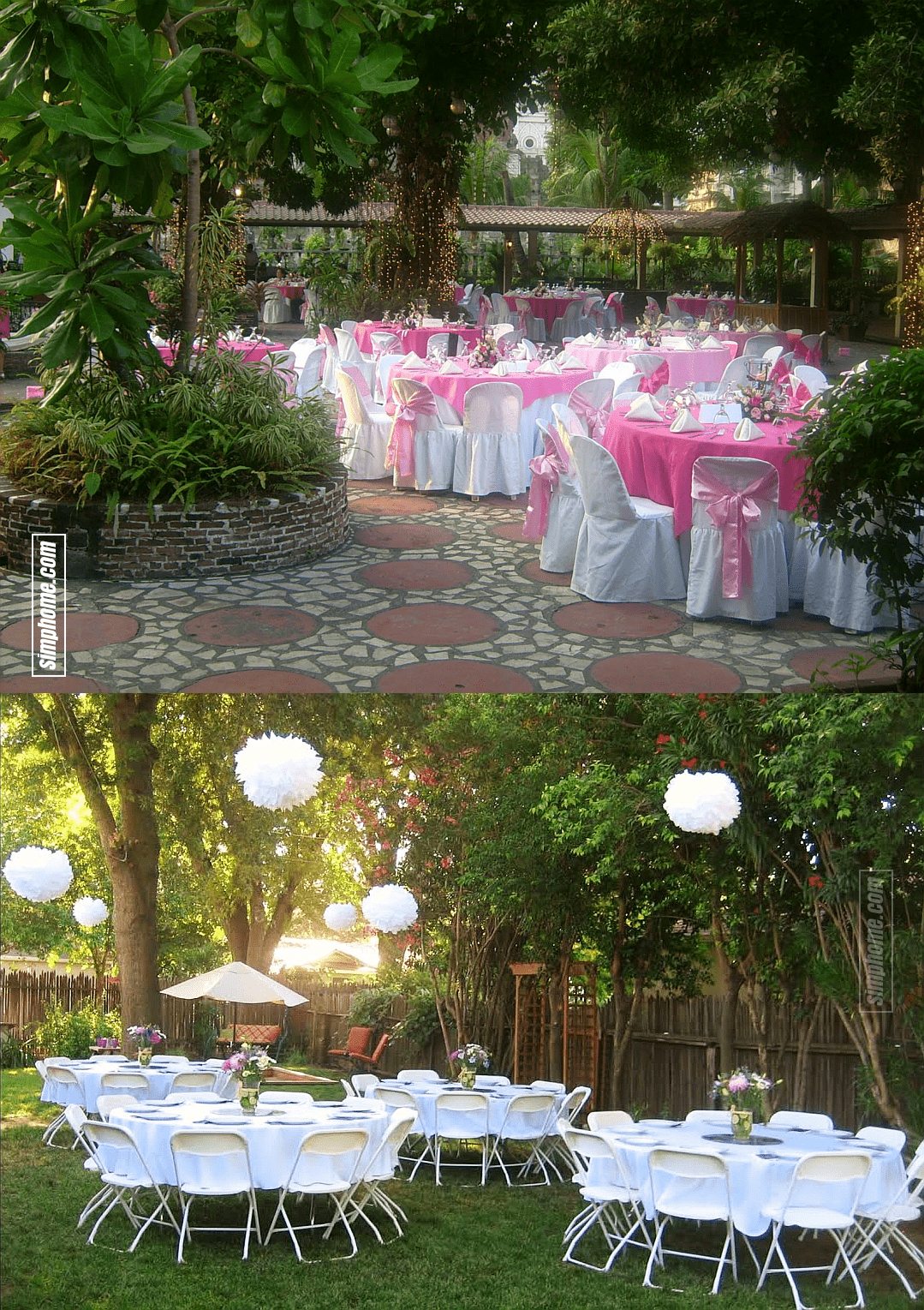16.SIMPHOME.COM wedding ideas backyard wedding reception with Youtube reference