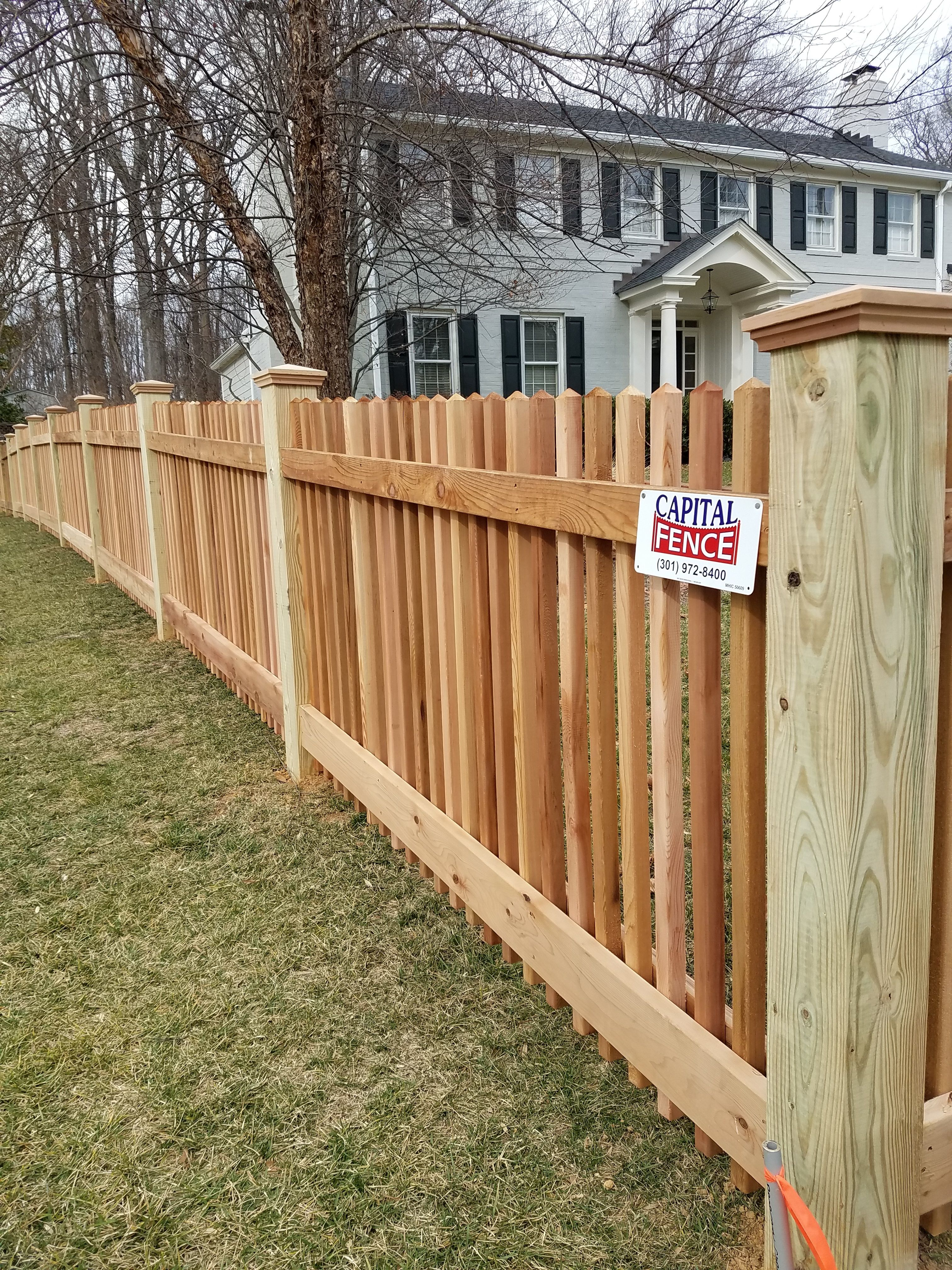 17.SIMPHOME.COM poolesville picket wood fence wood picket fence in 2019 2099