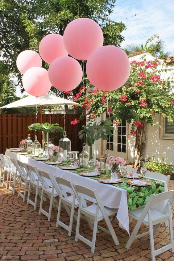 2. Garden Engagement Party Decoration via SIMPHOME.COM