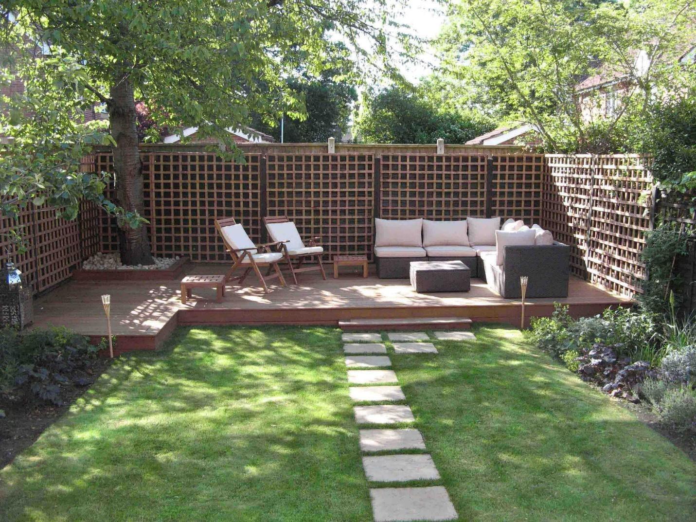 2. SIMPHOME.COM A Patio with a Garden Path