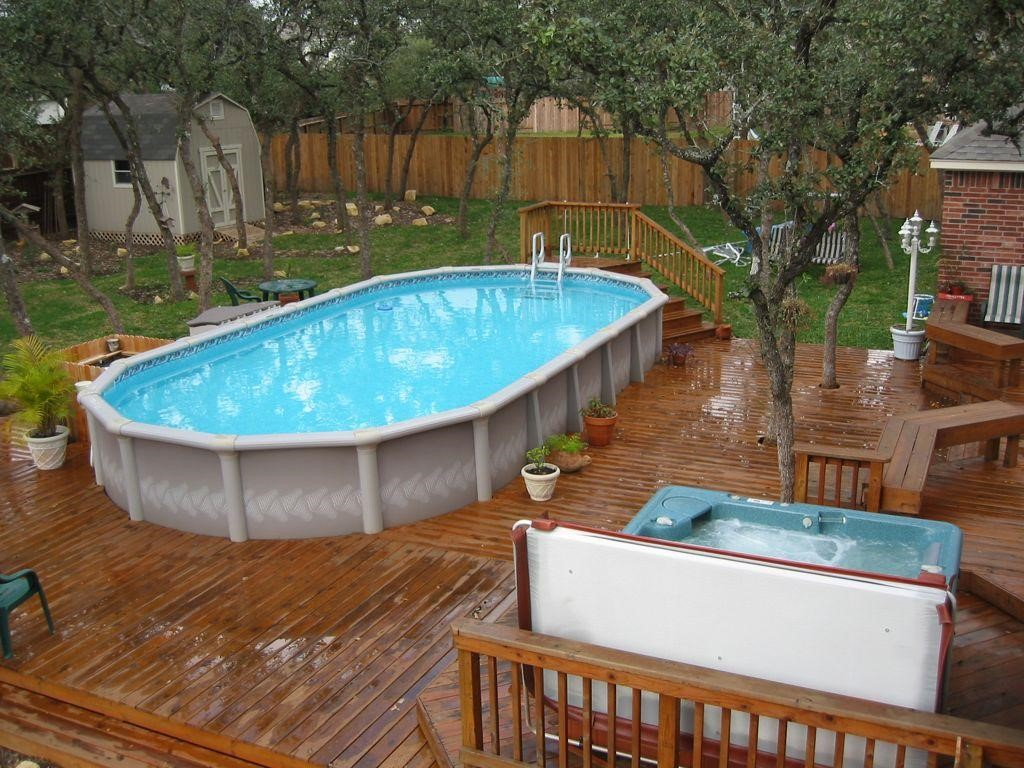 2. SIMPHOME.COM Oval Shaped Above Ground Family Pool