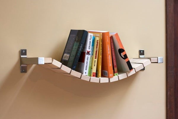 2.SIMPHOME.COM Bridge Inspired Bookshelf