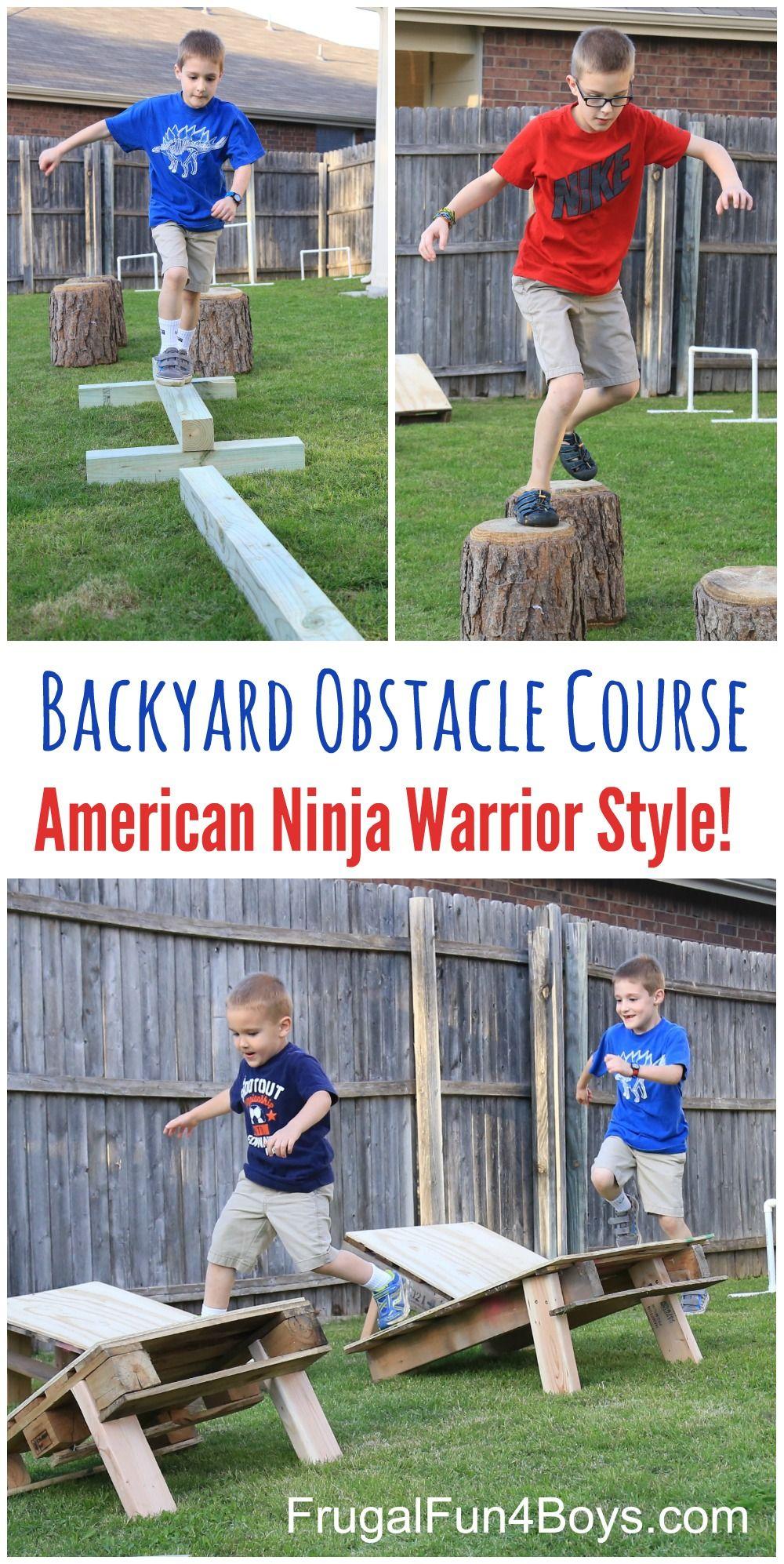 20.SIMPHOME.COM diy american ninja warrior backyard obstacle course frugal fun