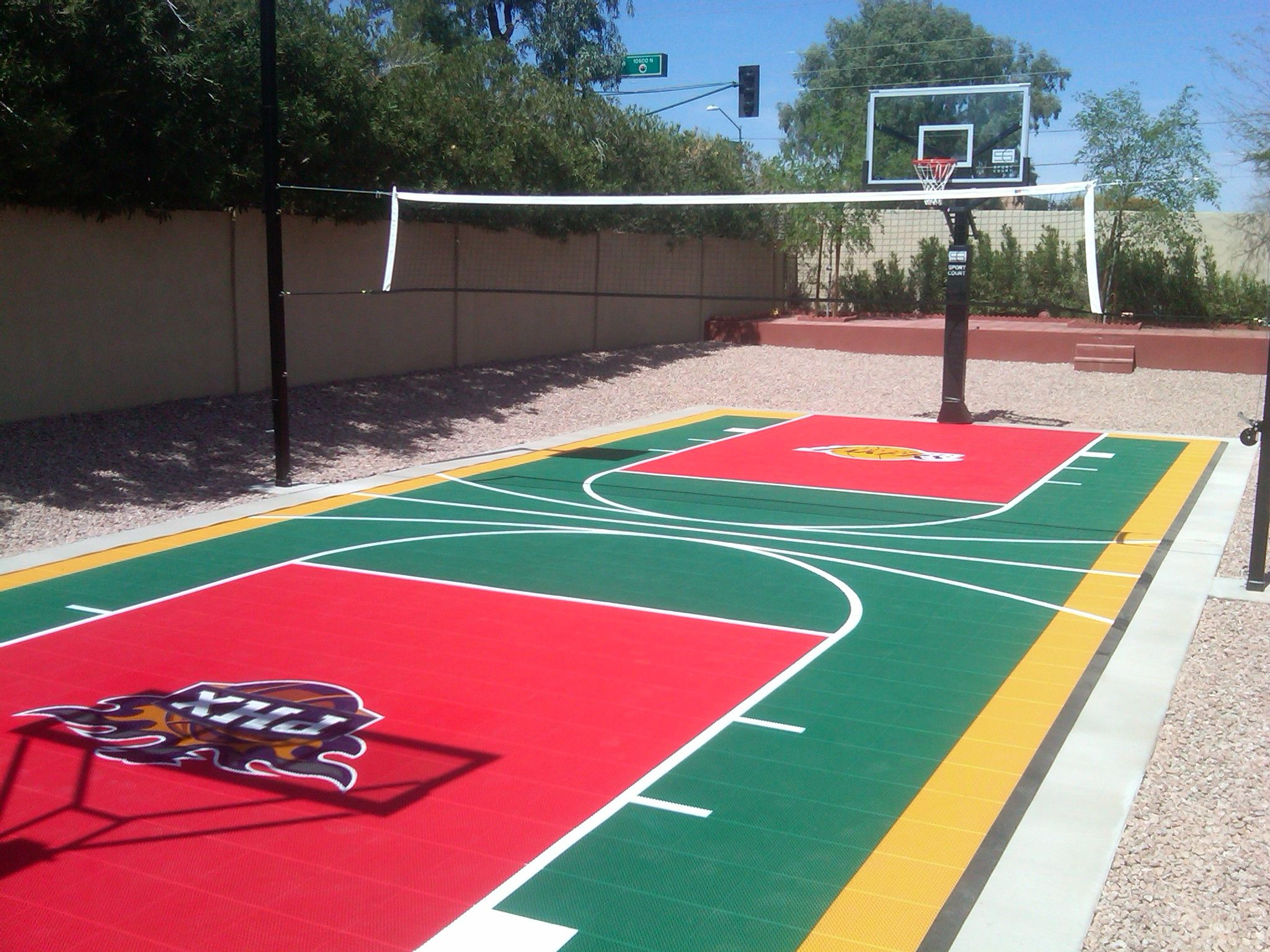 21.SIMPHOME.COm backyard sports court backyard designs arizona sport court