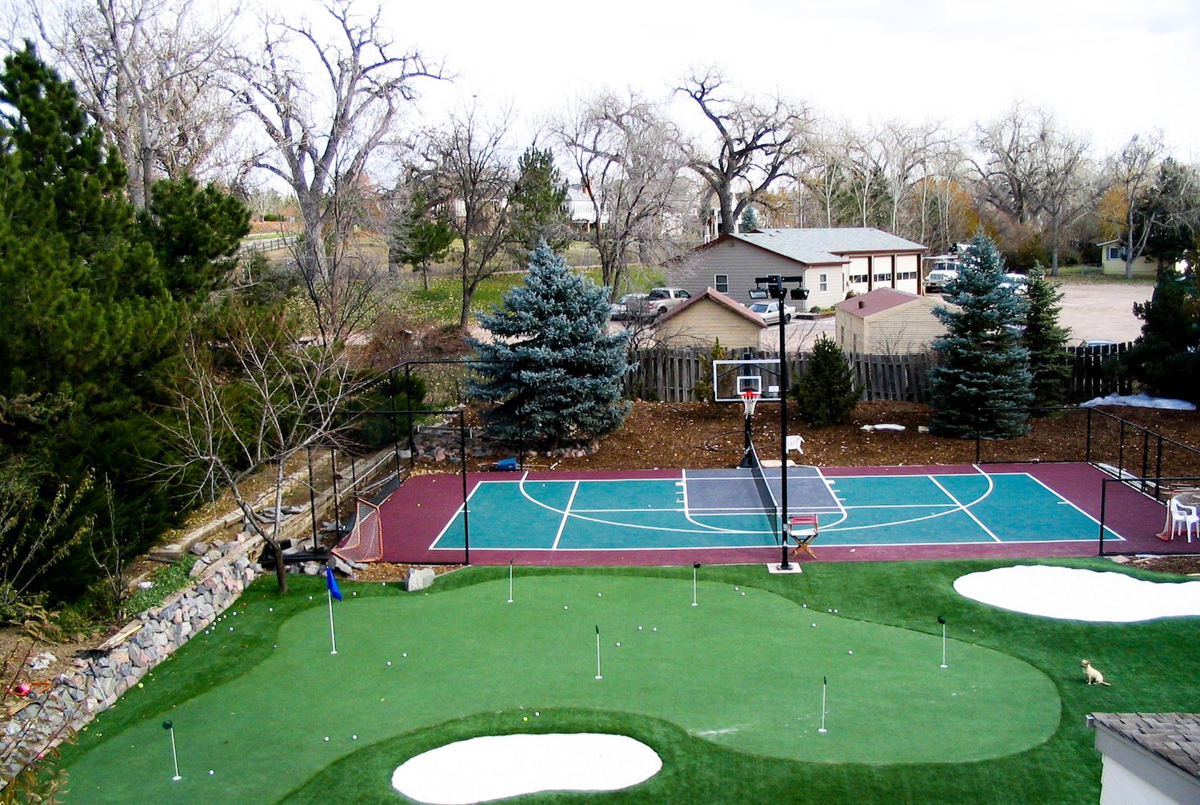 22.SIMPHOME.COM the dangers of a diy basketball court sport court