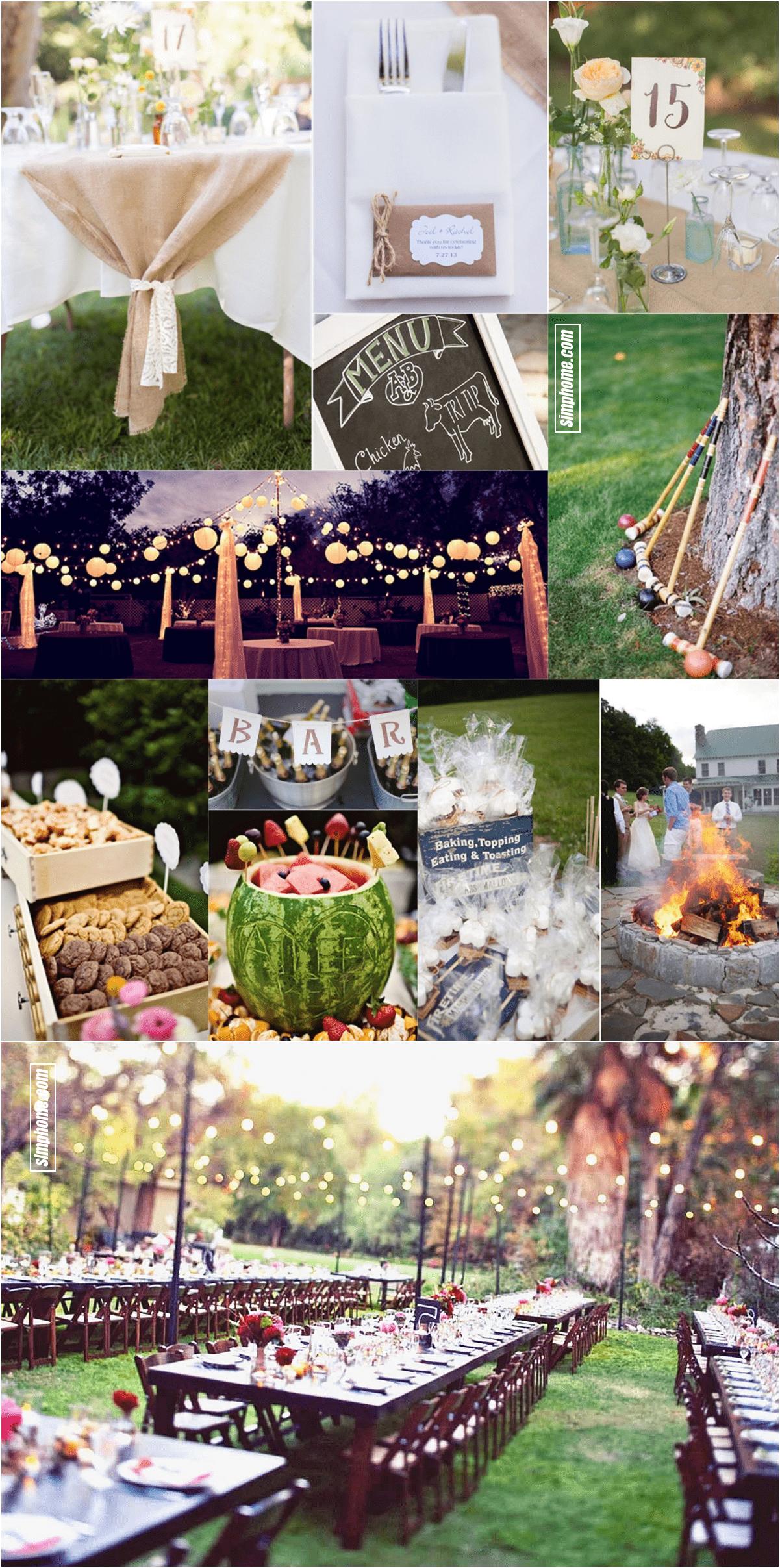 24.SIMPHOME.COM essential guide to a backyard BBQ wedding on a budget