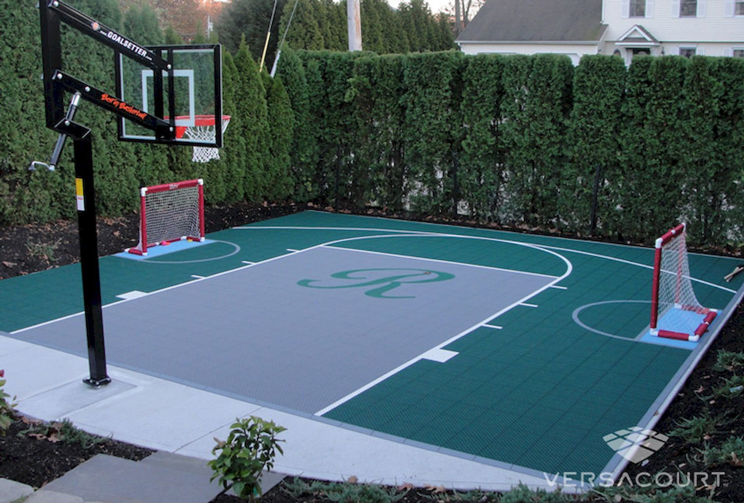 25.SIMPHOME.COM sport court backyard design ideas court backyard basketball