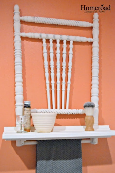3. SIMPHOME.COM A Chair Has Turned into a Wall Mounted Shelf