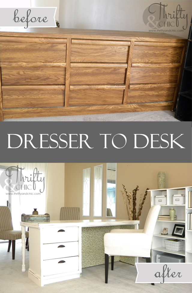 3. SIMPHOME.COM Dresser to Desk