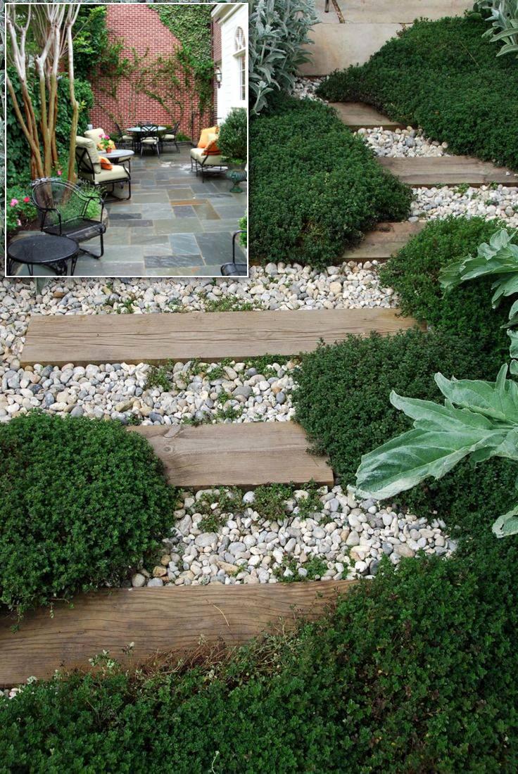 3.SIMPHOME.COM Make the garden path in your backyard