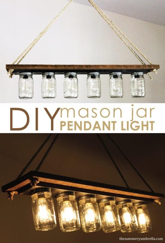 3.SIMPHOME.COM Mason Jar Pendant Lights