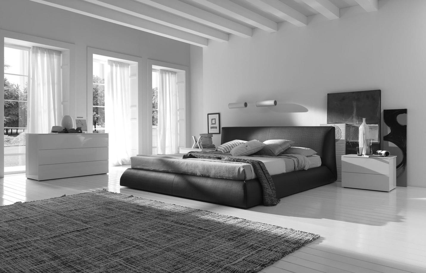 3.SIMPHOME.COM Monochromic Modern Bedroom