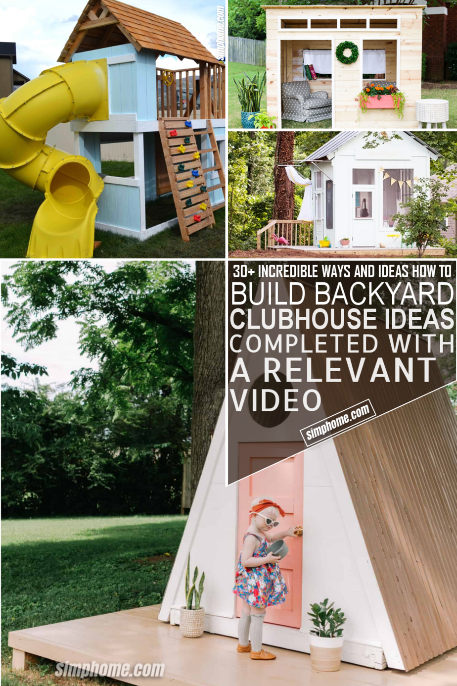 30 Ways of How to Build Backyard Clubhouse Ideas via Simphome.com