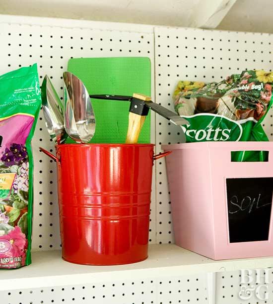 4. Colorful Buckets and Bins via SIMPHOME.COM