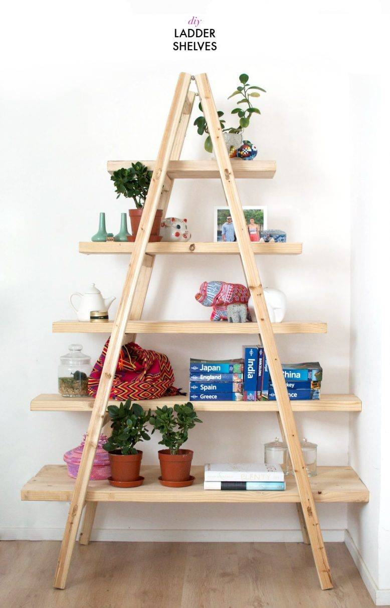 4. SIMPHOME.COM Ladder Shelves
