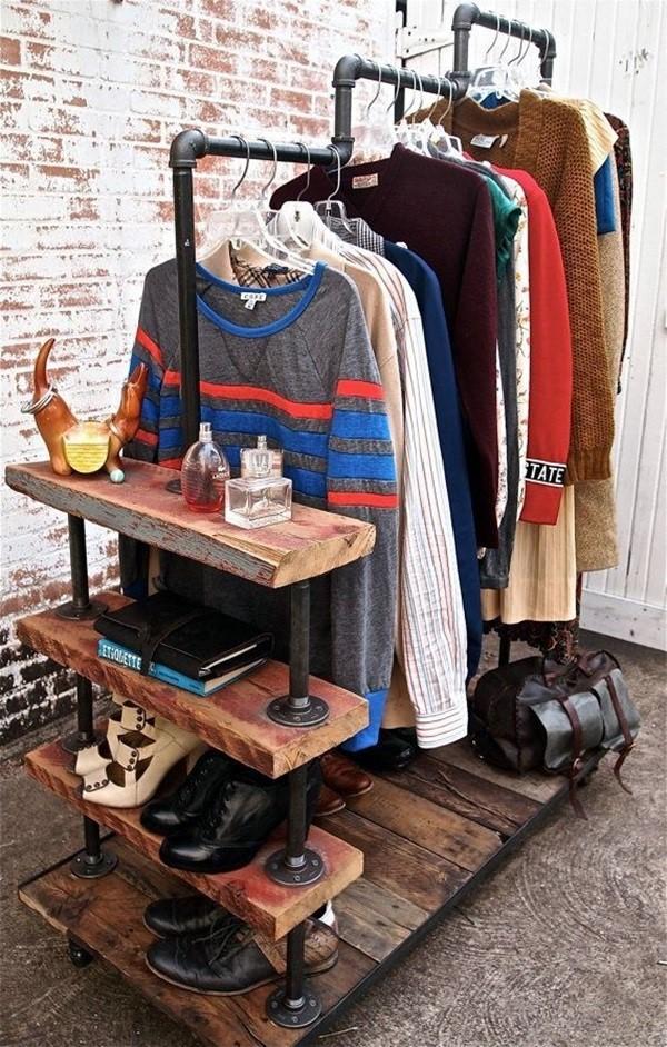 4. SIMPHOME.COM Pipe Wardrobe for Small Bedroom