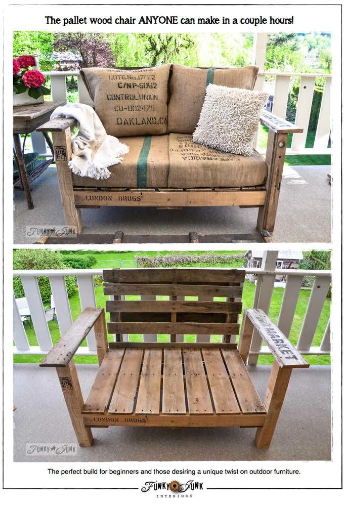 4.SIMPHOME.COM A Rustic Pallet Chair
