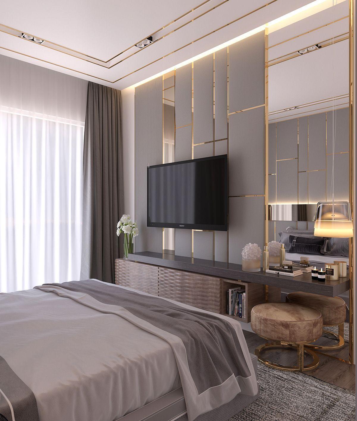 4.SIMPHOME.COM TV Backdrop in the Bedroom
