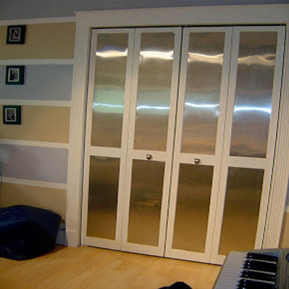 5. Get Metal Look Cabinet Door via SIMPHOME.COM