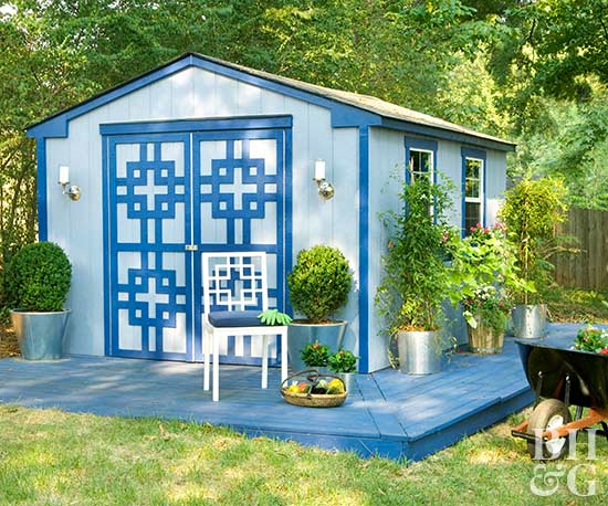 5. SIMPHOME.COM Chic Outdoor Shed Design