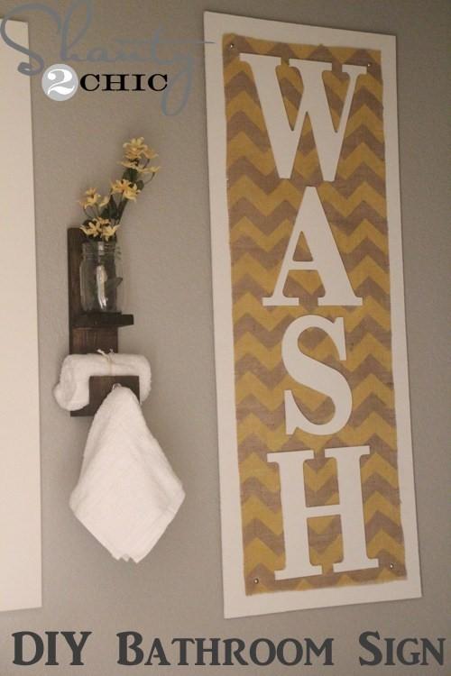 6. Bathroom Sign via SIMPHOME.COM
